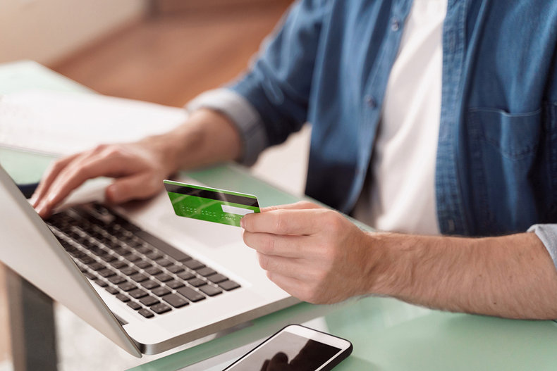 Man Depositing at Online Betting Site
