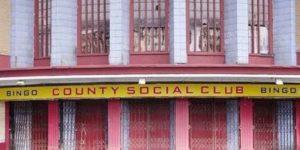 Abandoned bingo hall