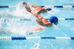 Swimming Race Tie Dead heat