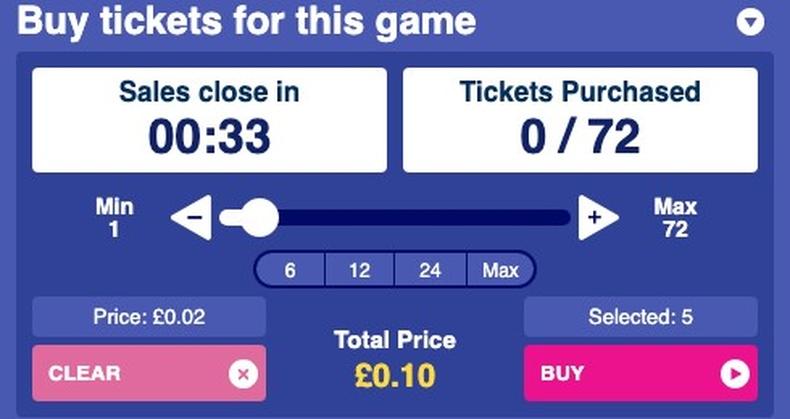 Bingo Buy Tickets
