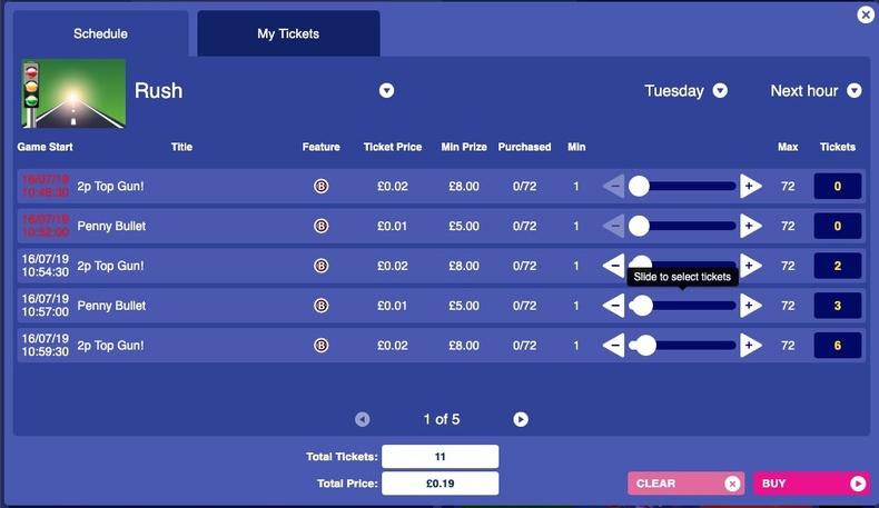 Bingo Pre-buy Tickets