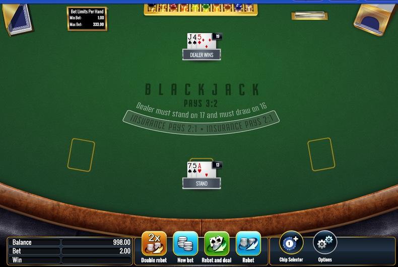 Blackjack Result