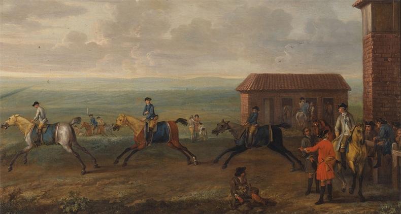 Horse Race Newmarket Heath 1700s