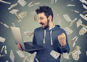 Lottery Winner Laptop Money