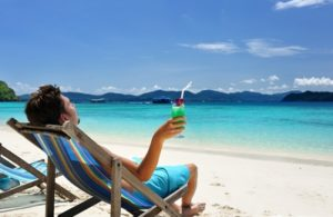 Man on Beach Life of Luxury