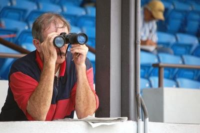 Punter with Binoculars