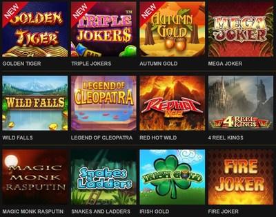 Slot Game Selecion