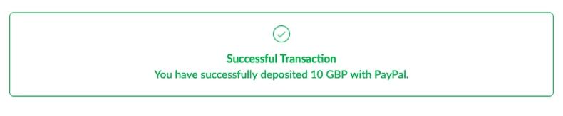 Successful Transaction