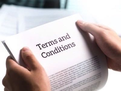 Terms & Conditions feature