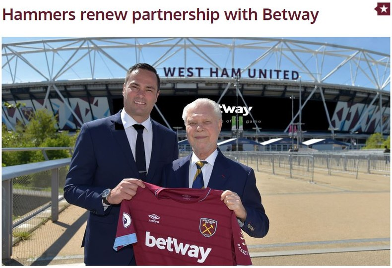 West Ham Betway