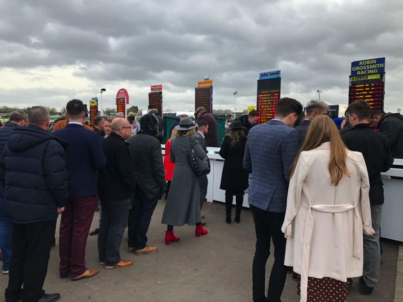 Punters at a horse race