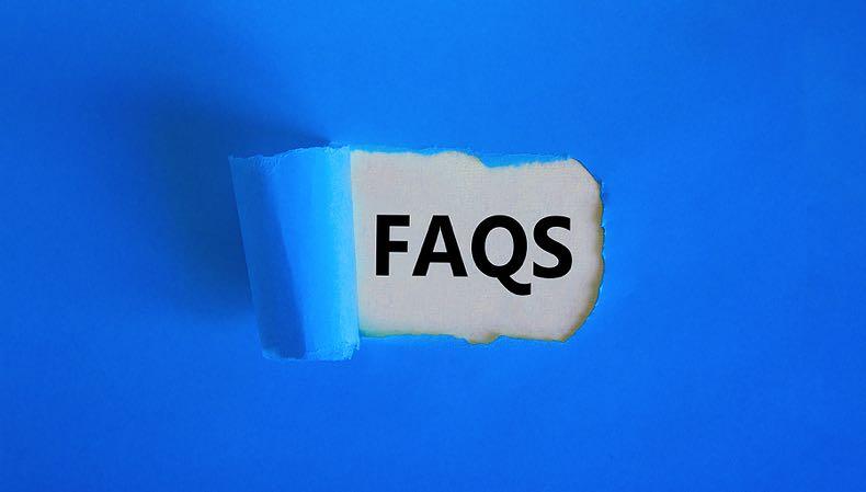 FAQs in blue