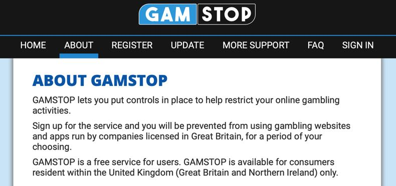GAMSTOP about