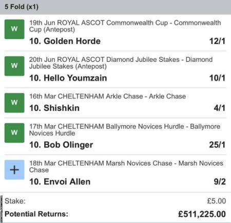 Multiple Bets Example
